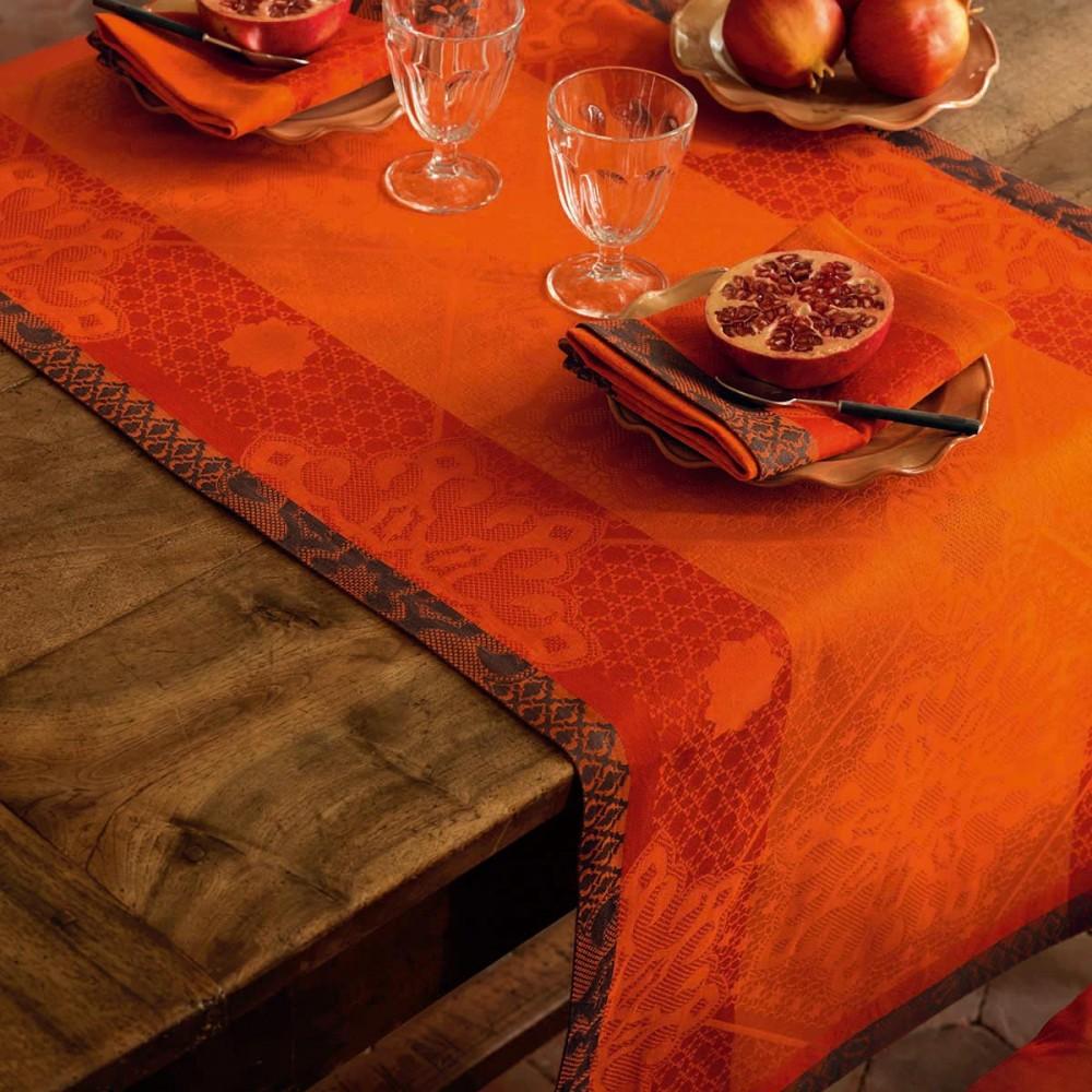 Tafelloper 55x200 s ville - Chemin de table orange ...