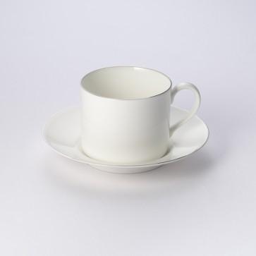 Koffiekop en schotel (cilindrisch)