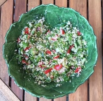 Saladeschaal wijnblad