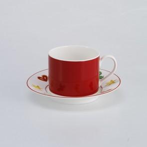 Koffiekop en schotel cilindrisch