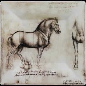 Vierkant schaaltje Paard