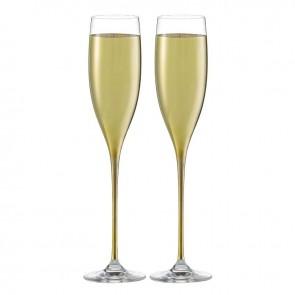 Set van twee champagneglazen