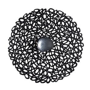 Pebble placemat zwart